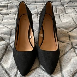 A New Day Black Faux Suede Heels